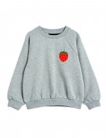 Свитшот Mini Rodini Strawberry grey melange